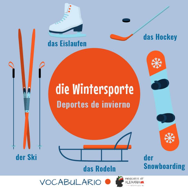 Vocabulario en aleman el invierno - deportes de invierno