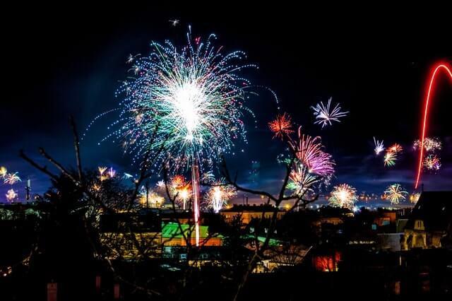 Año nuevo en Alemania - fuegos artificiales