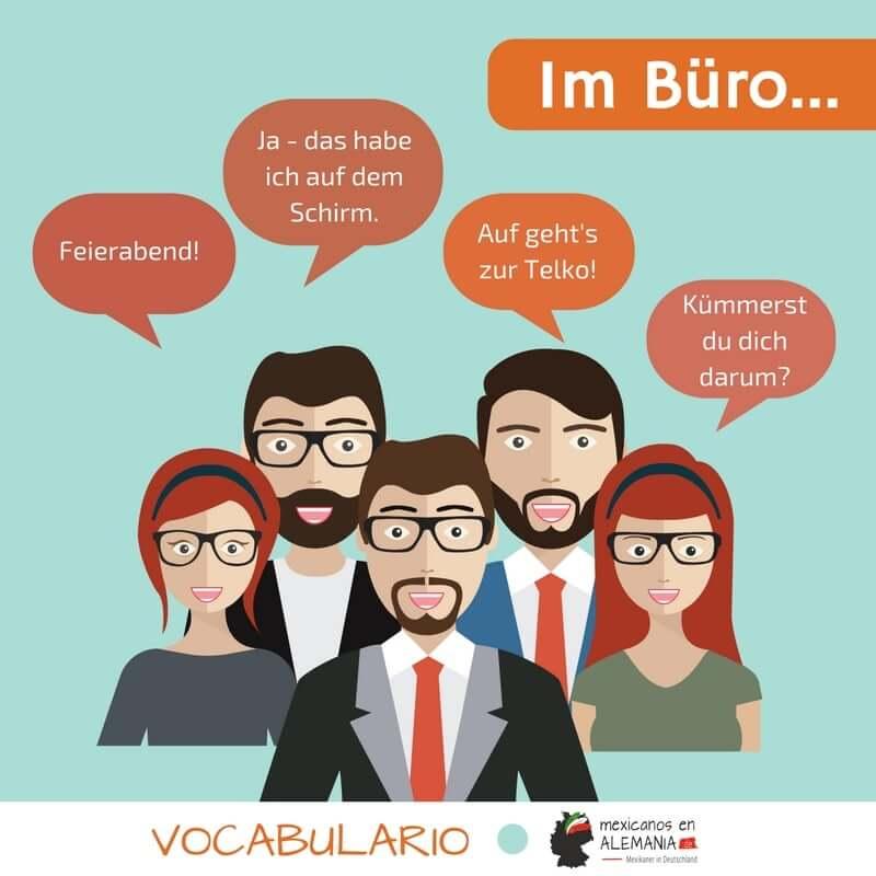 vocabulario en alemán: trabajar - Diálogos