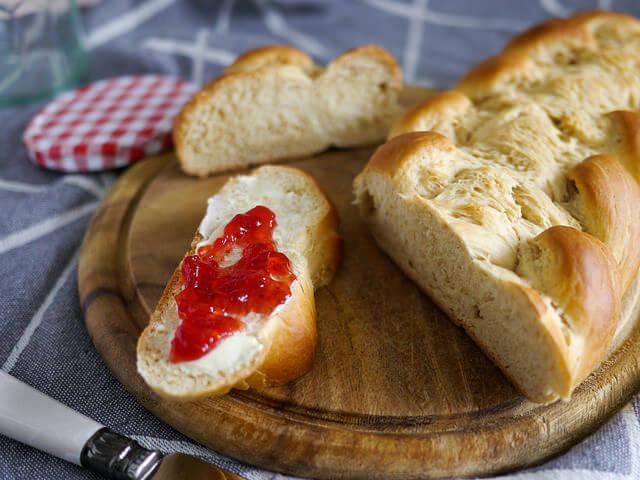 Herzenzopf/Trenza de pan dulce - Recetas de Pascua