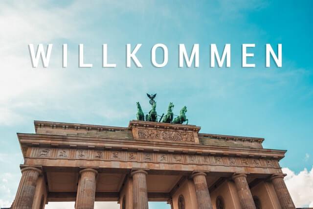 Llegando a Alemania - bienvenida