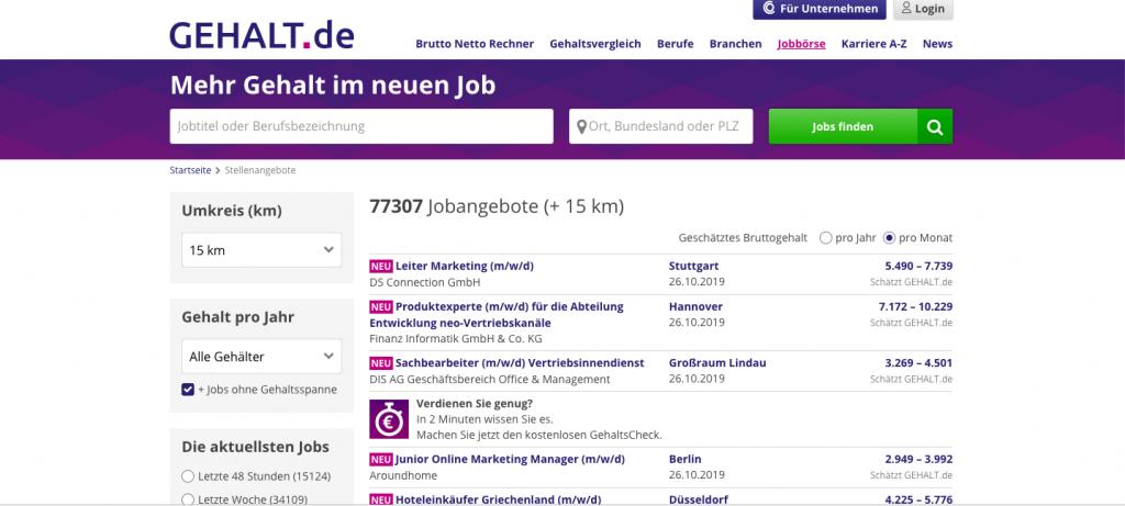 Portal de empleo - Gehaltde