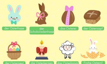 Vocabulario en alemán: la pascua