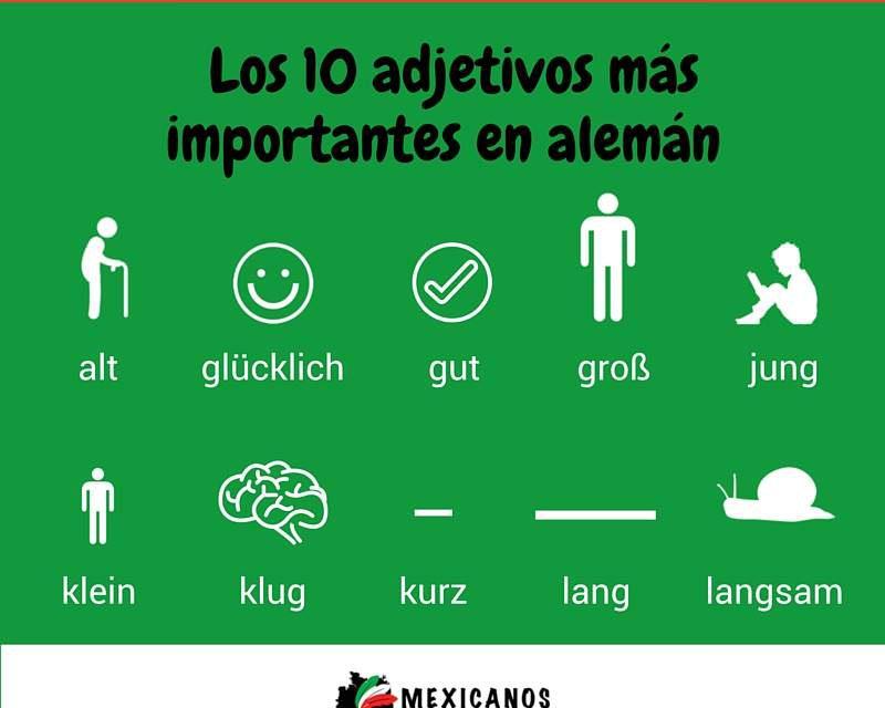 10 adjetivos comunes en alemán