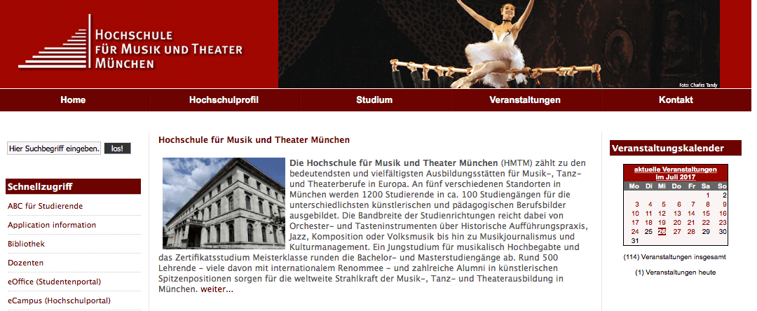 Música en Alemania - Hochschule für Musik und Theater München