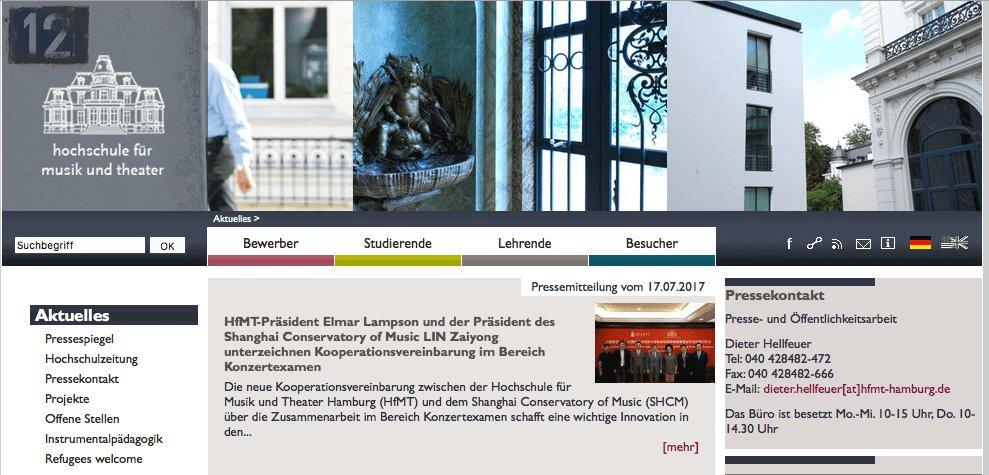 Música en Alemania - Hochschule für Musik und Theater Hamburg