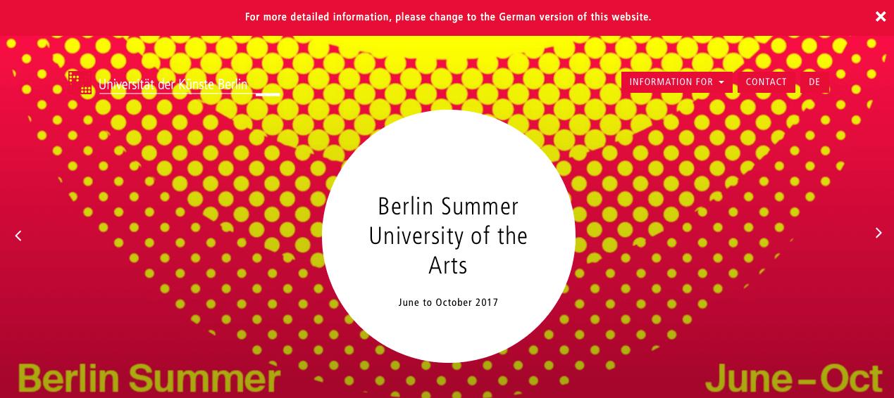 Música en Alemania - Universität der Kunste
