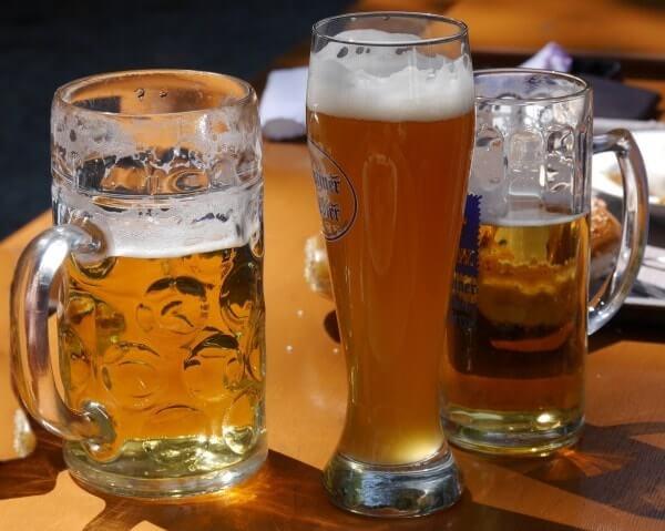 cerveza en Alemania - vasos adecuados