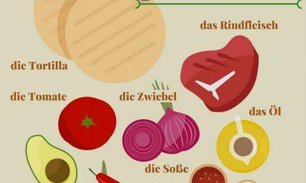 Vocabulario en alemán: comida mexicana