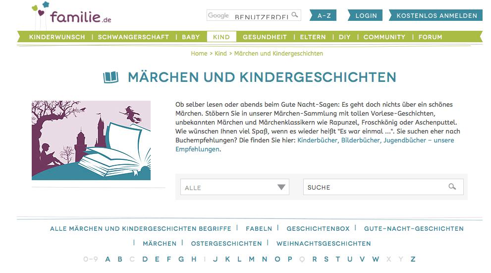 cuentos infantiles para aprender alemán - familie.de