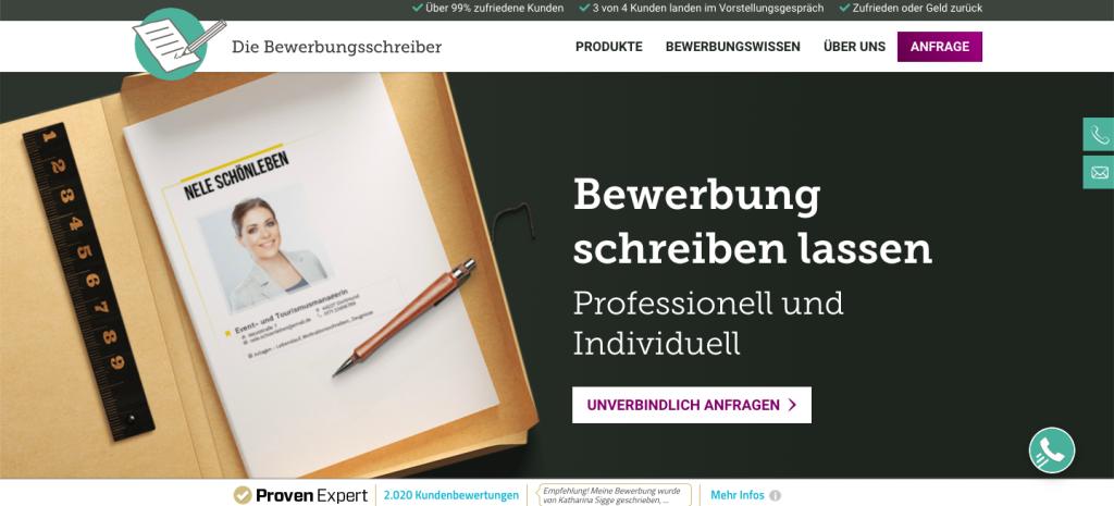 Die Bewerbungsschreiber DE - Servicio para hacer solicitudes de trabajo, CV, y cartas de presentación