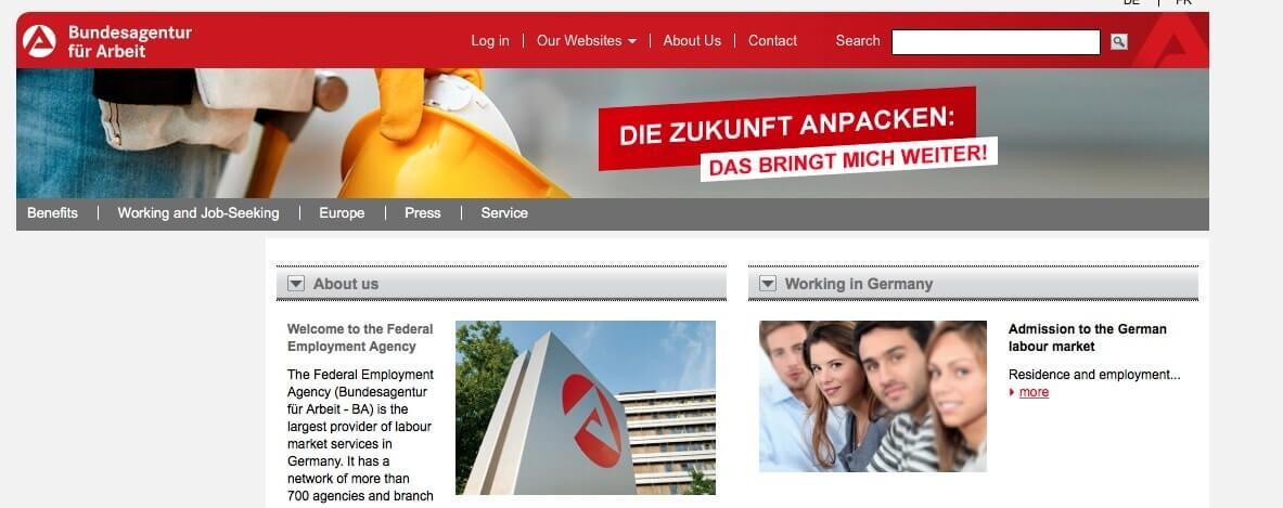 Directorio de organizaciones importantes de Alemania - Agencia Federal de Empleo