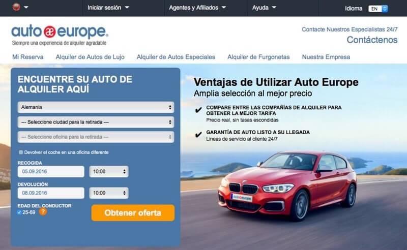 inks pararentar un coche en Alemania autoeurope