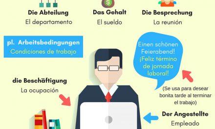 Vocabulario en alemán: la empresa