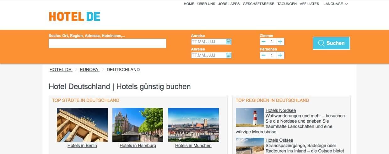 opciones de hospedaje en Alemania Hotelde