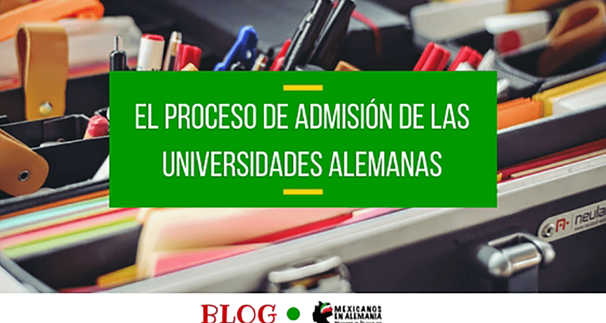 ¿Cómo es el proceso de solicitud de admisión en las universidades de Alemania?