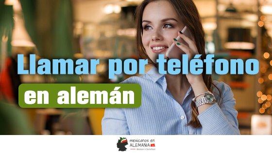 Vocabulario: Llamadas telefónicas en alemán