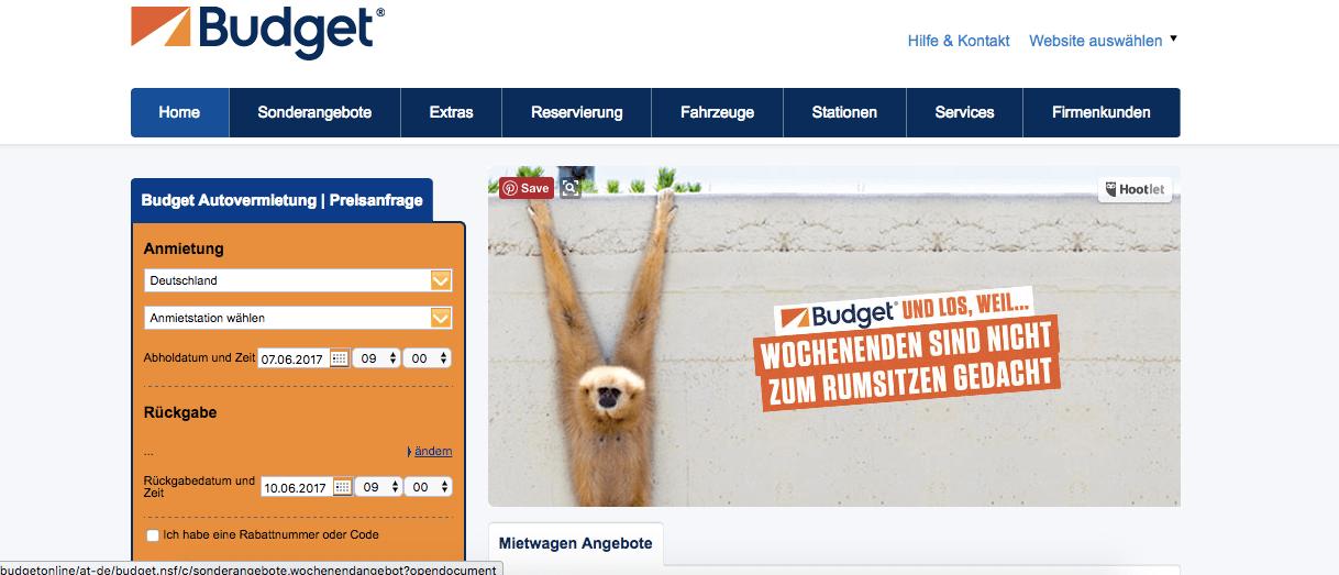 Rentar auto en Alemania - Budget