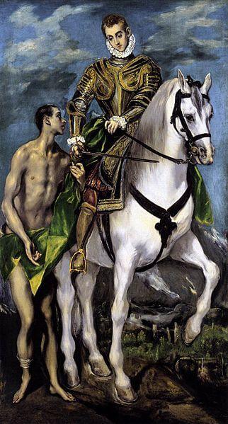 San Martin y El Mendigo por el Greco
