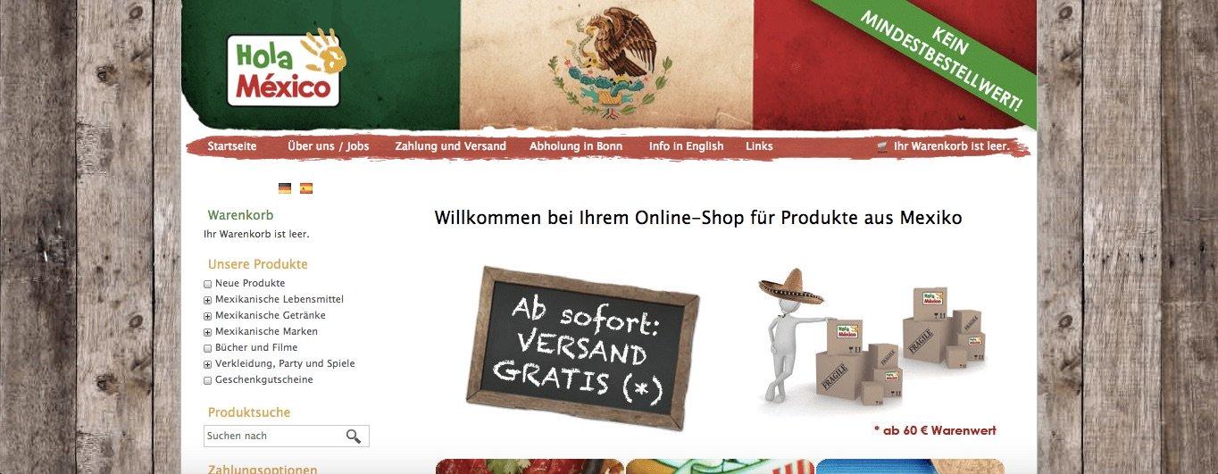 tiendas de productos mexicanos - hola México