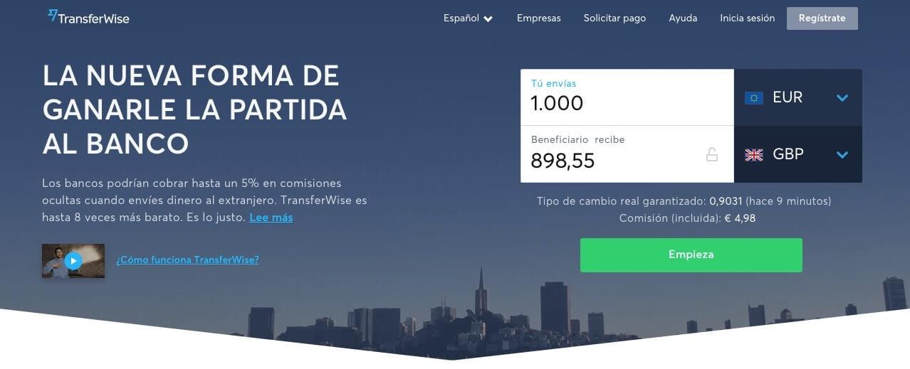 mandar dinero a México - transferwise