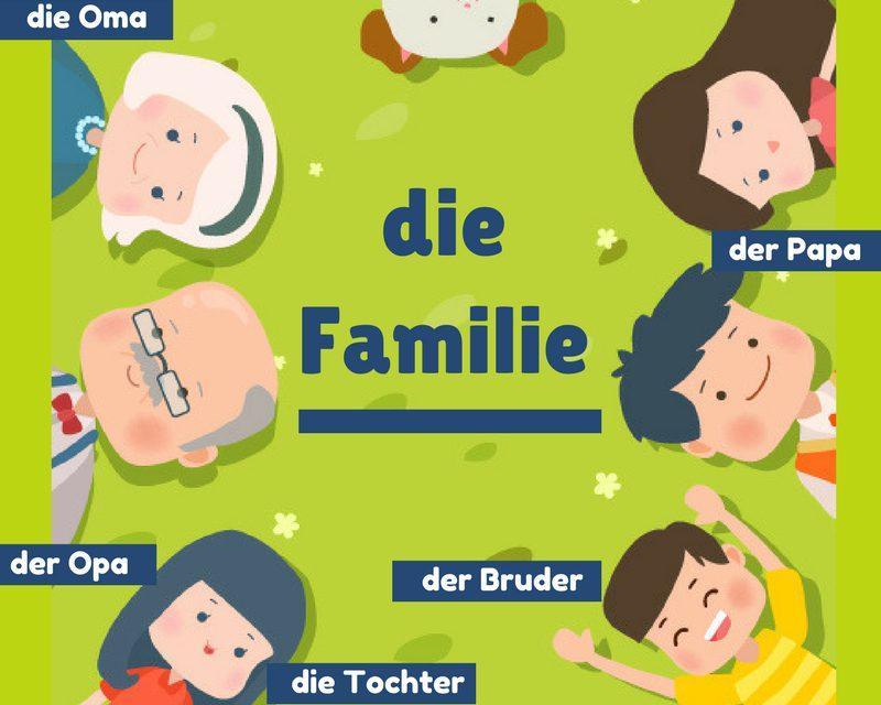 Vocabulario en alemán – la familia