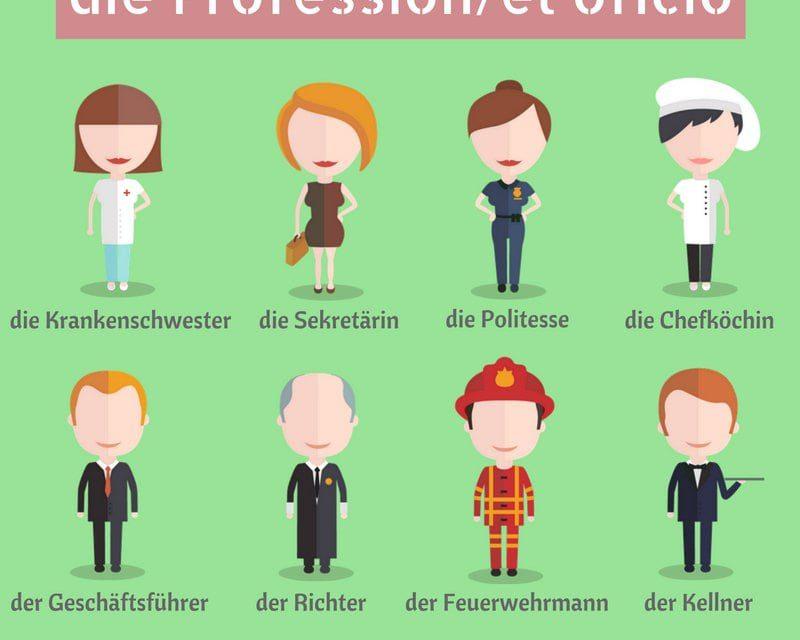 Vocabulario en alemán: las profesiones