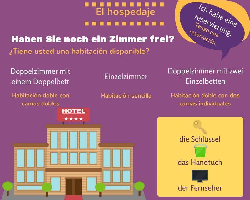 Vocabulario alemán para el hotel