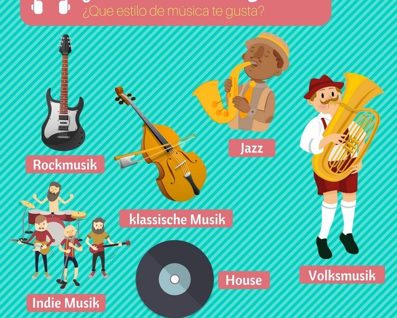 Vocabulario en alemán – Música