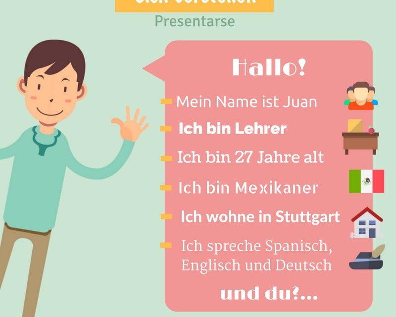 Vocabulario en alemán – la presentación
