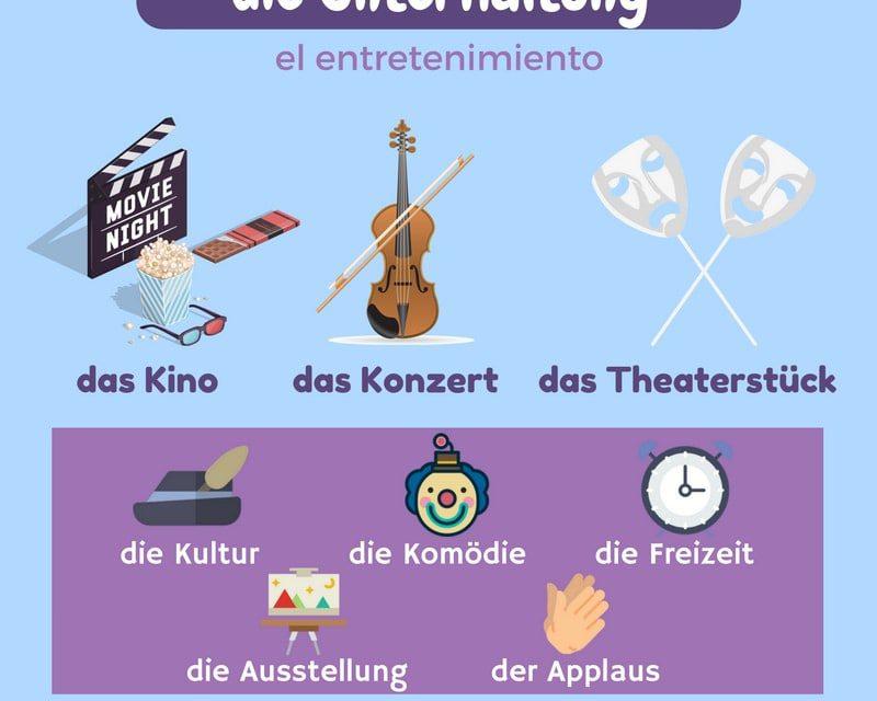 Vocabulario en alemán: entretenimiento