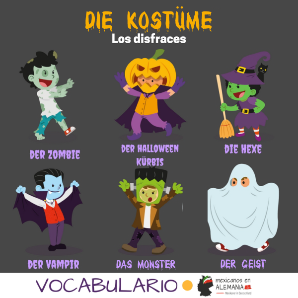 vocabulario en aleman halloween portada