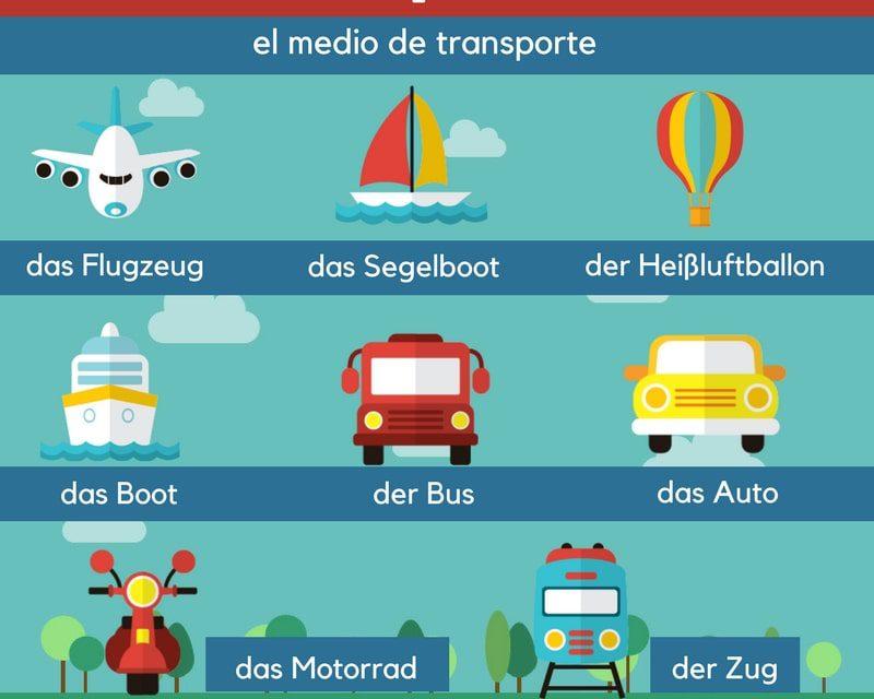 Vocabulario en alemán: el transporte