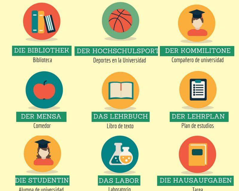 Vocabulario en alemán – la universidad
