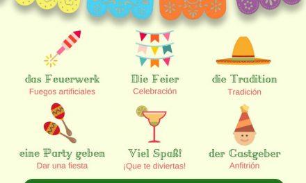 Vocabulario en alemán – Fiesta Mexicana
