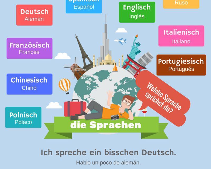 Vocabulario en alemán: idiomas