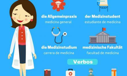 Vocabulario alemán – estudiar medicina
