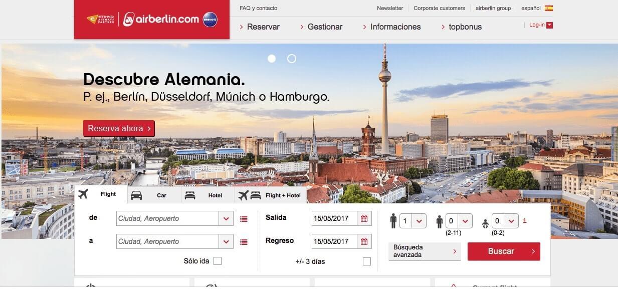 vuelos baratos a México y Alemania - AirBerlin