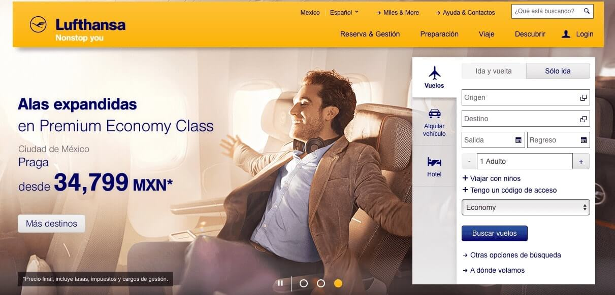 vuelos baratos a México y Alemania - Lufthansa