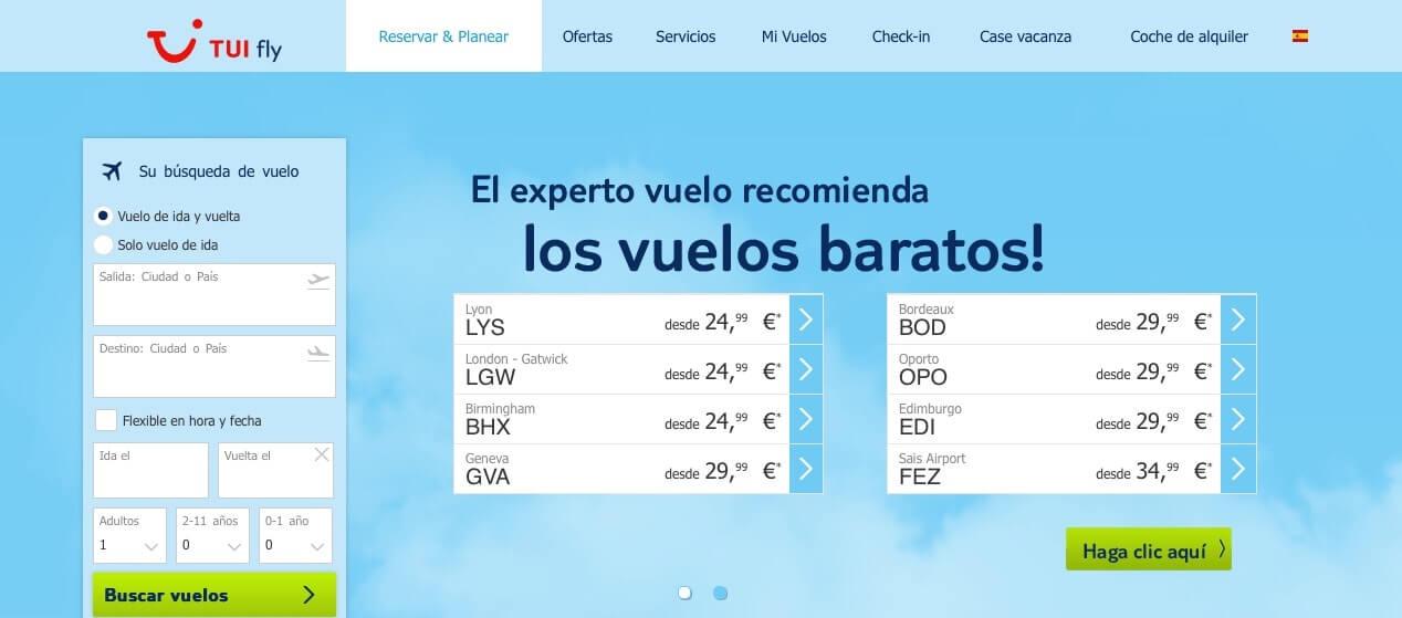 vuelos baratos a México y Aleania - Tuifly